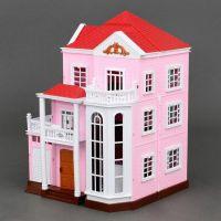 """Набор """"Дом трехэтажный розовый"""""""